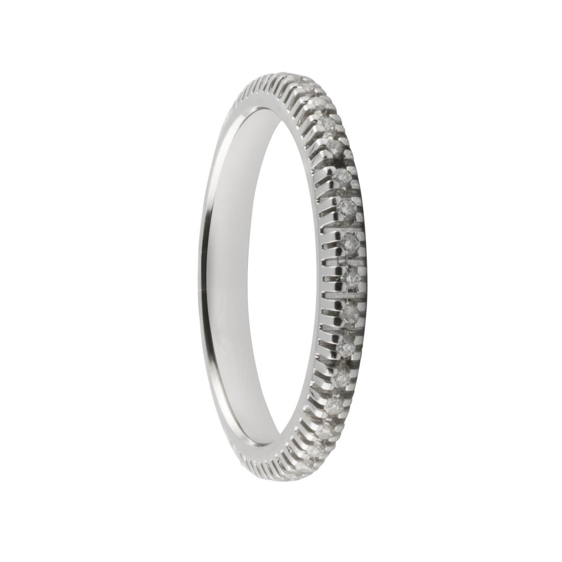 Anello eternity in oro bianco con diamanti ct. 0,20 - ORO&CO