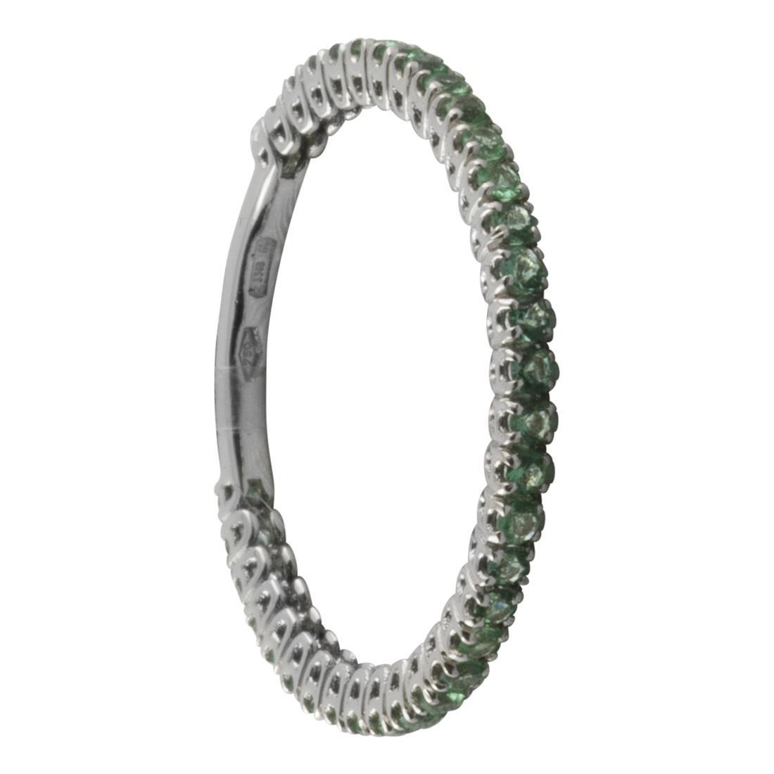 Anello in oro bianco con smeraldi ct.0,48 - ORO&CO