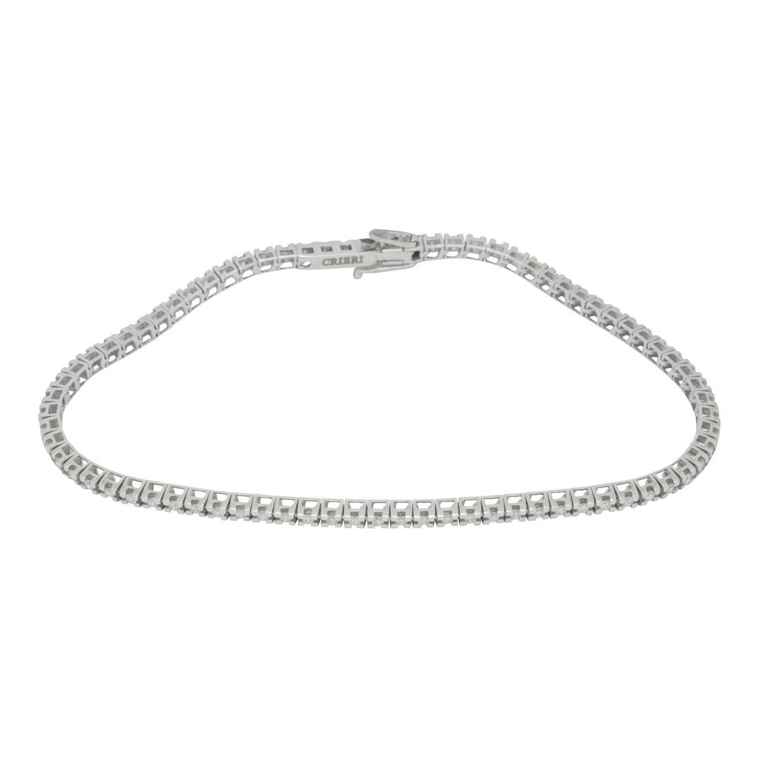 grande varietà prezzo speciale per selezione premium Bracciale tennis in oro bianco con diamanti ct. 0,70