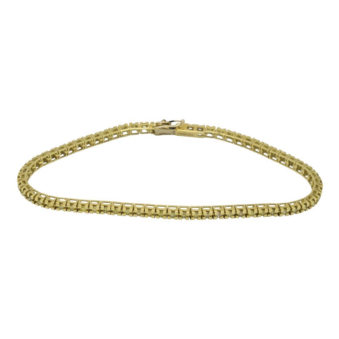 Bracciale tennis in oro giallo con diamanti fancy ct. 1,85 - ALFIERI & ST. JOHN