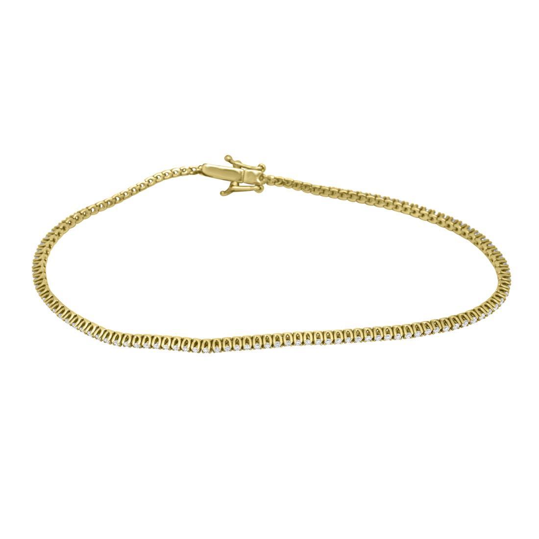 Bracciale tennis in oro rosso con diamanti ct. 0,75 - ORO&CO