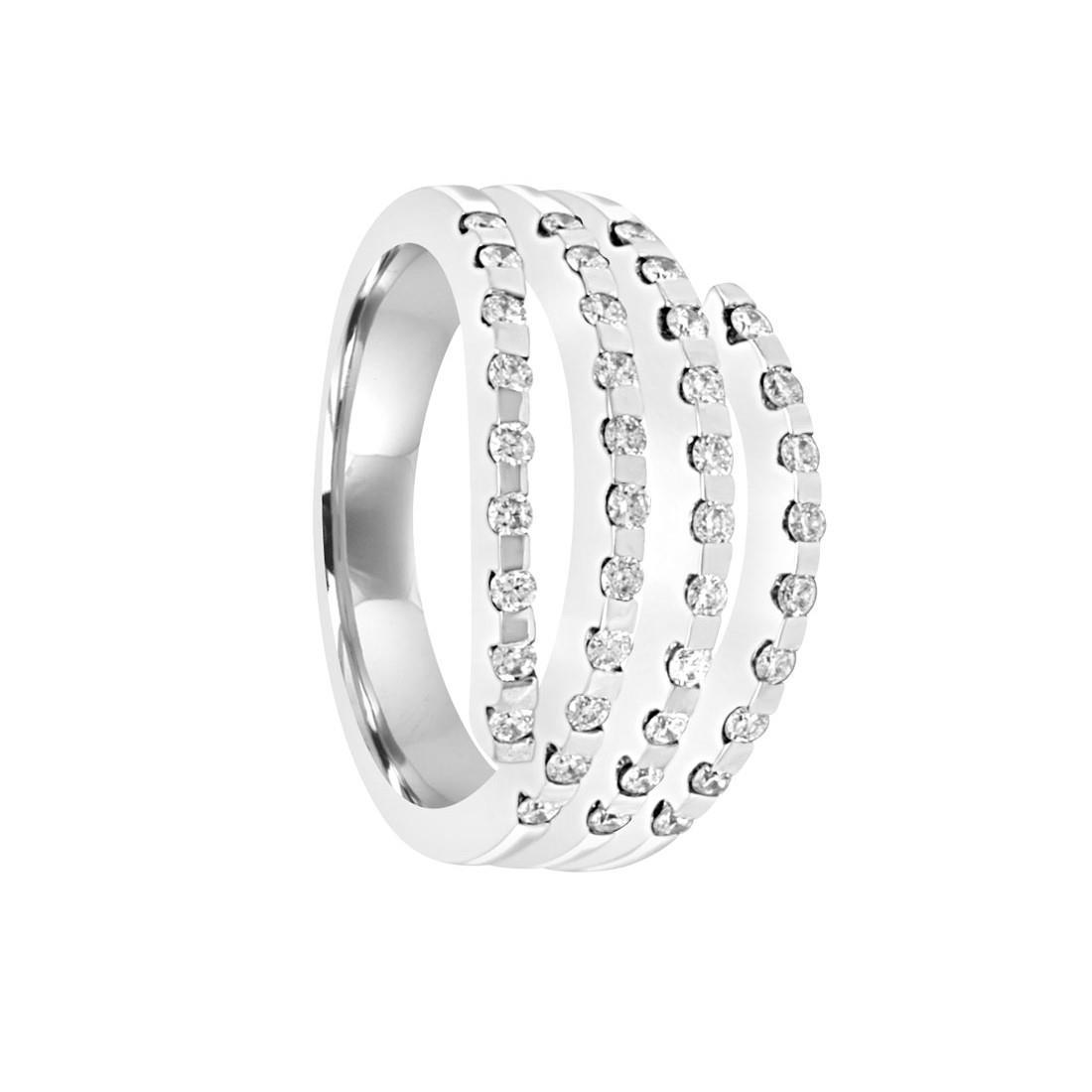 Anello in oro bianco diamanti ct 0.50, misura 16 - ORO&CO