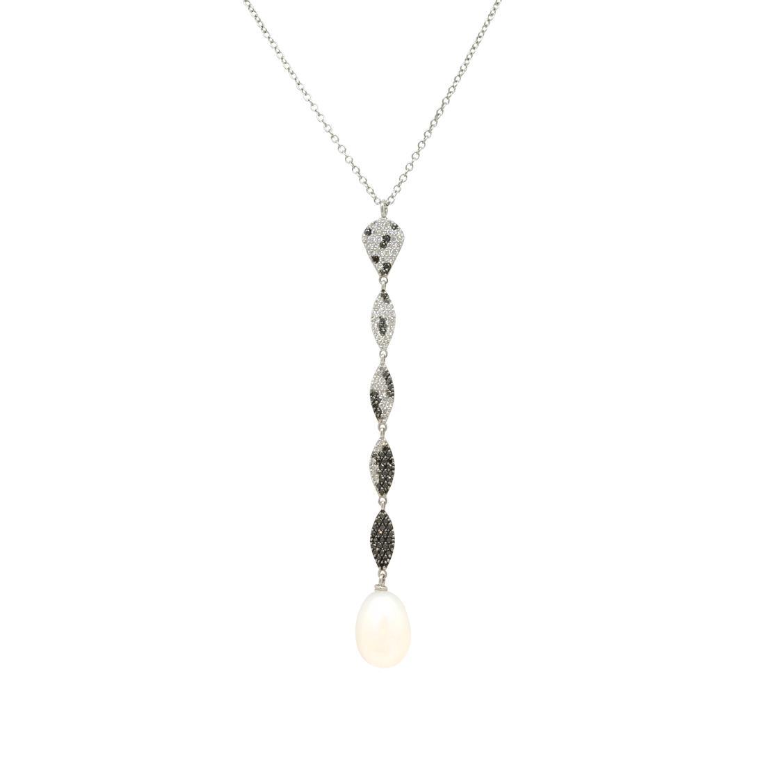 Collana in oro bianco con pendente design - ROBERTO DEMEGLIO