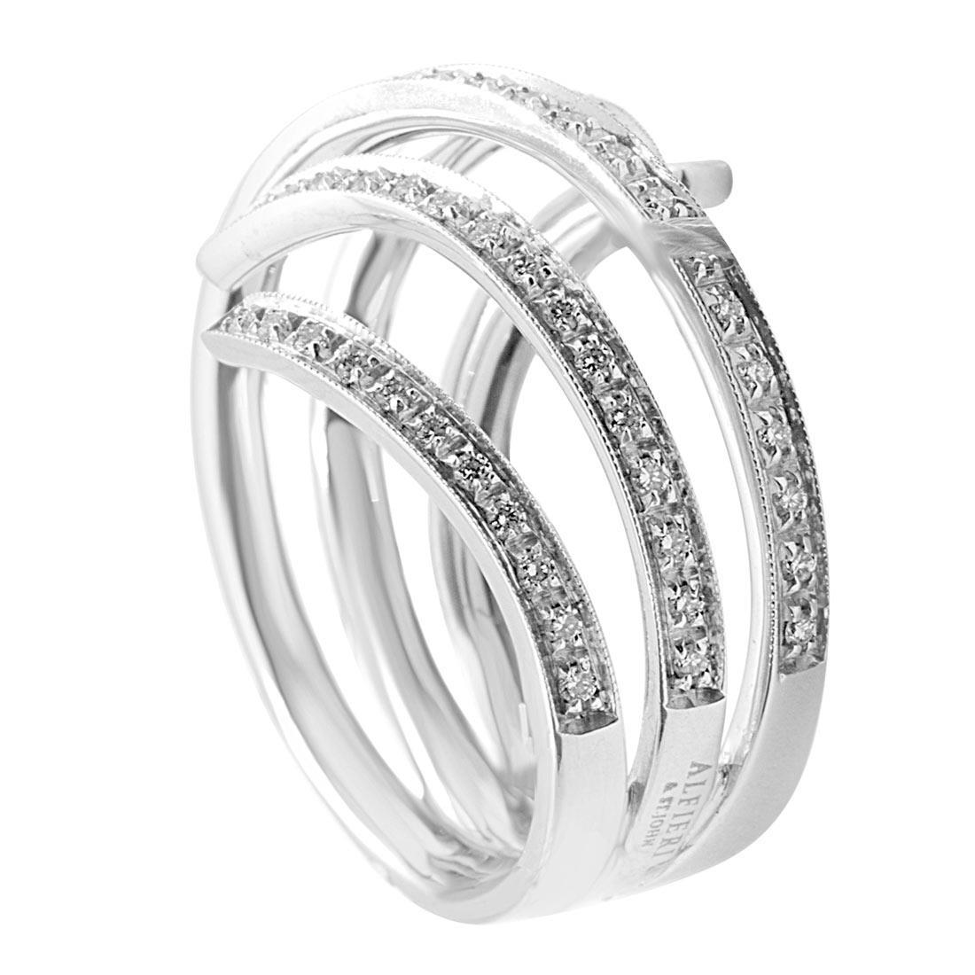 Anello in oro bianco con diamanti  - ALFIERI & ST.JOHN