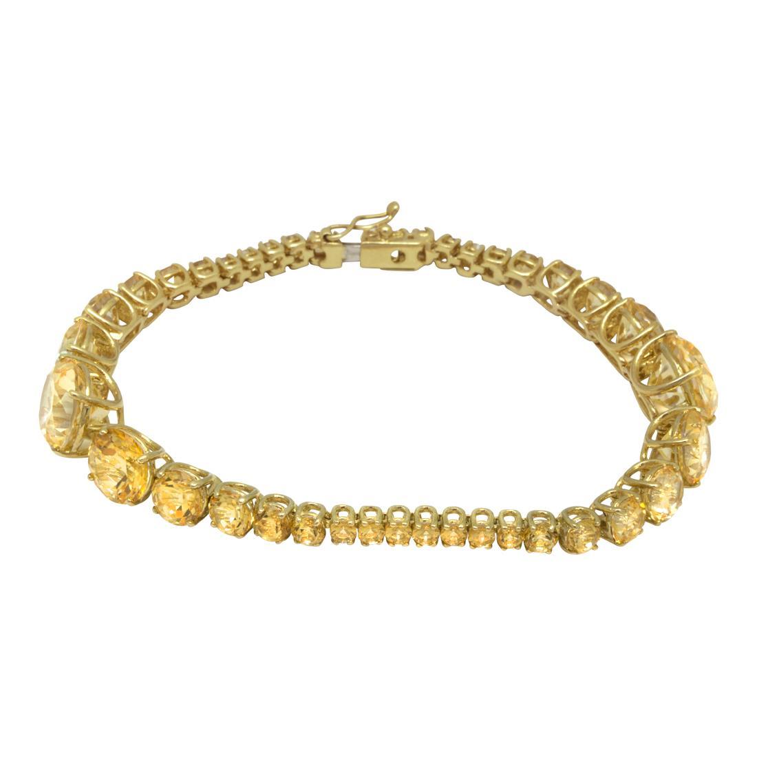 bracciale tennis in oro giallo e topazi - ROBERTO DEMEGLIO