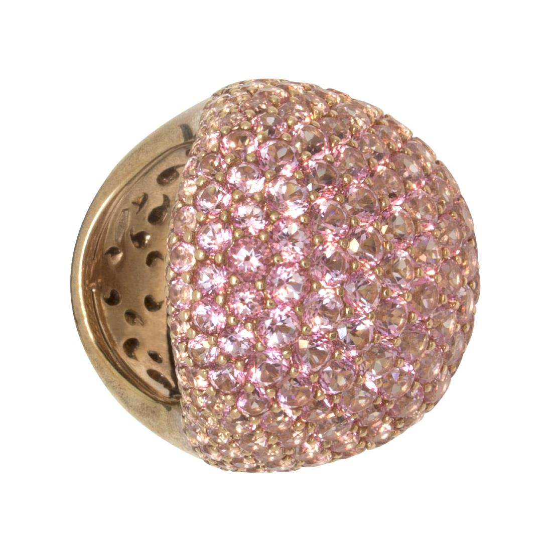 Anello in oro rosa 9kt con topazio rosa - ROBERTO DEMEGLIO