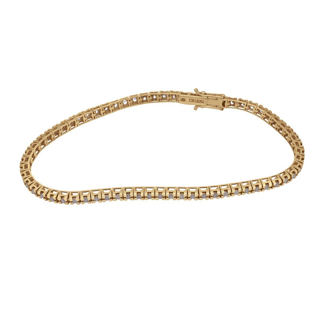Bracciale tennis in oro rosso con diamanti brown - ORO&CO