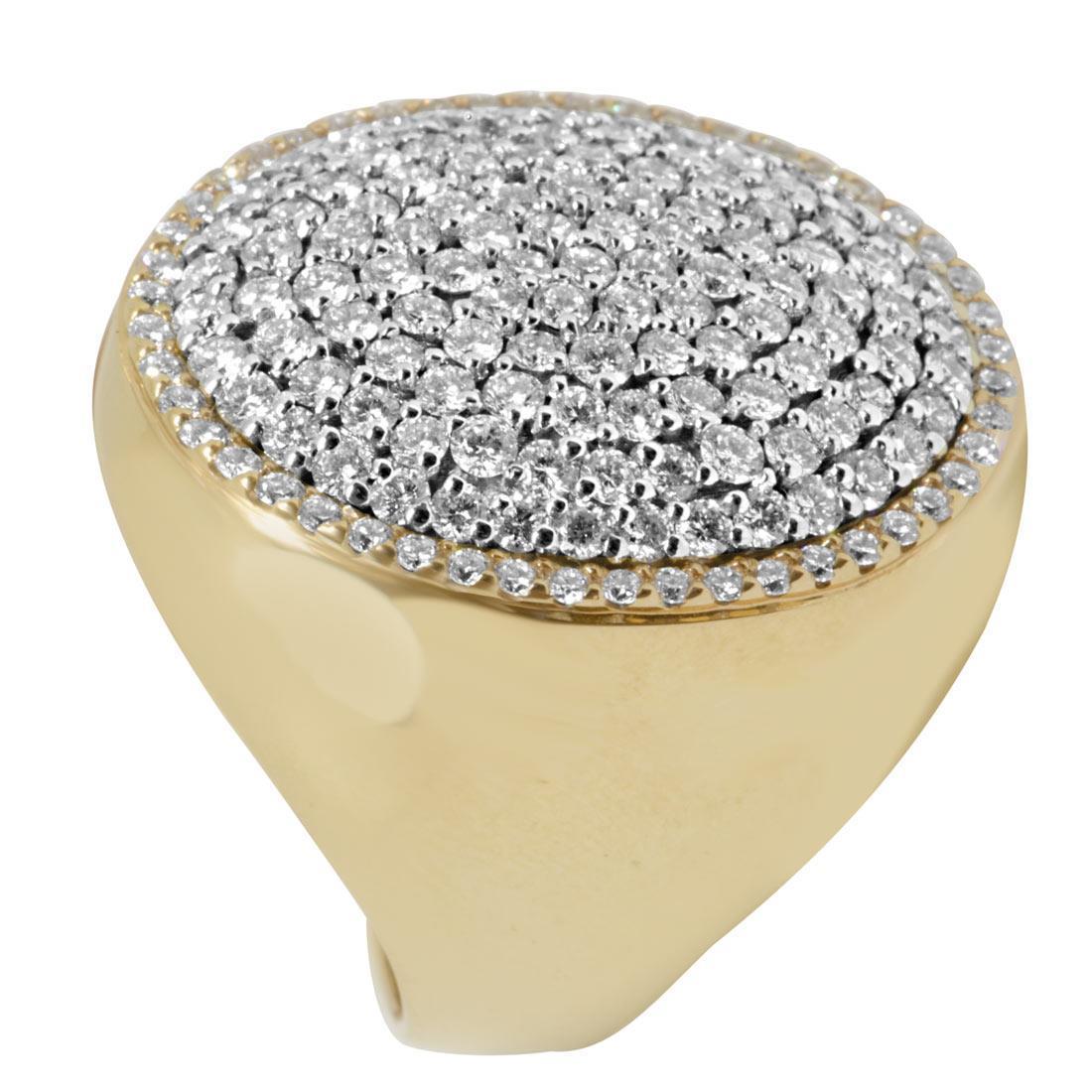 Anello in oro giallo con diamanti mis 15 - ALFIERI ST JOHN