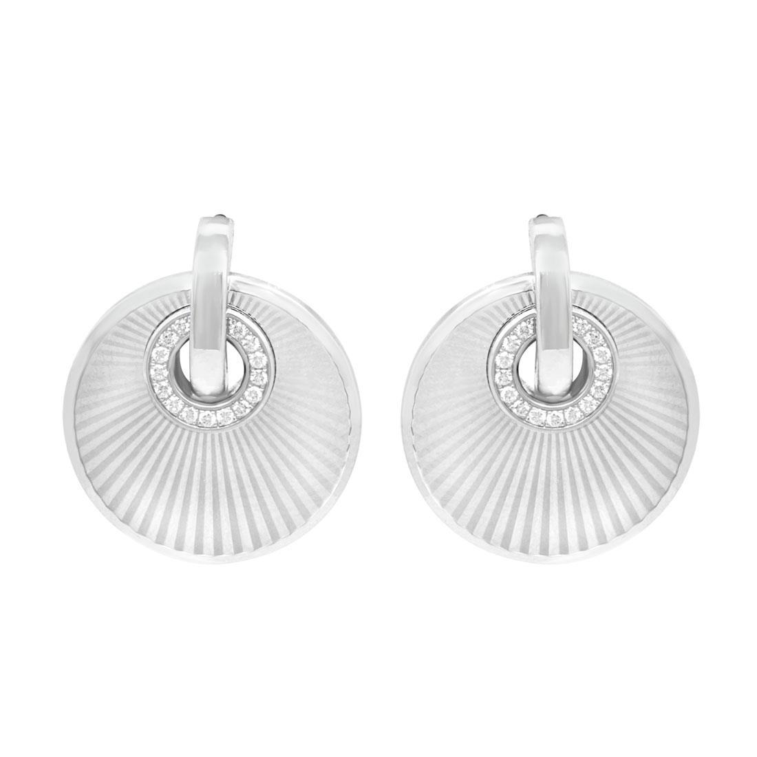 Orecchini in oro bianco con diamanti ct 0.11 - CHOPARD