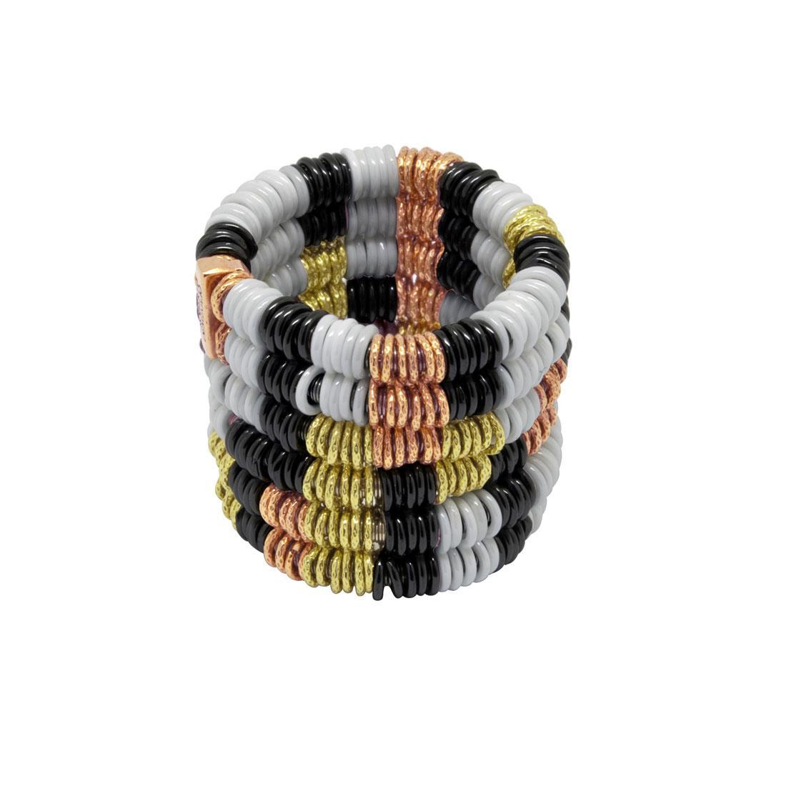 Semi-rigid ring in gold and ceramic - ROBERTO DEMEGLIO