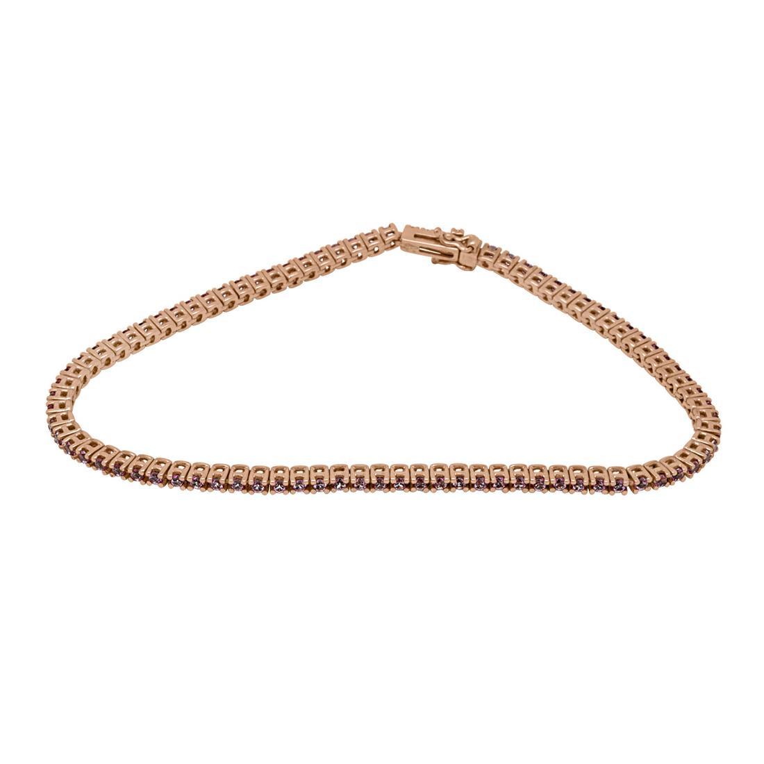 bracciale tennis in oro rosa con topazi - ROBERTO DEMEGLIO