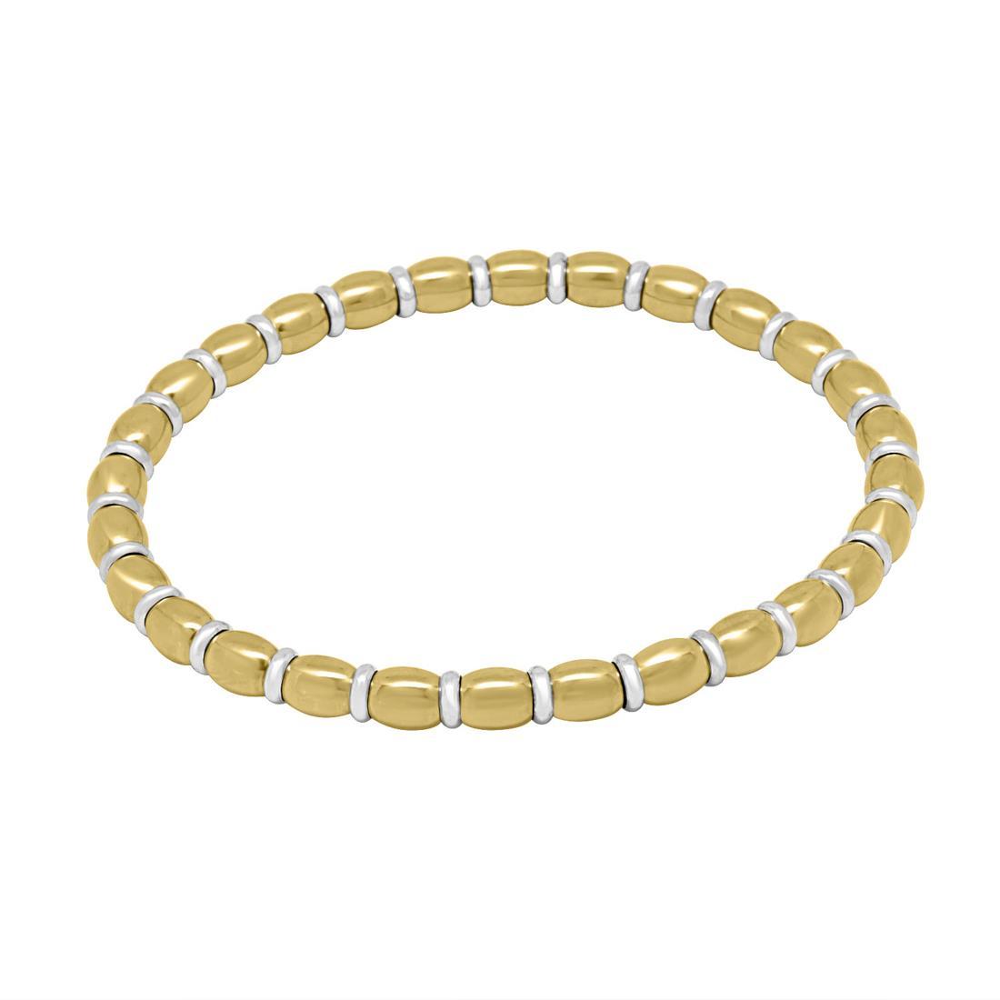 bracciale in acciaio e oro bianco - ROBERTO DEMEGLIO