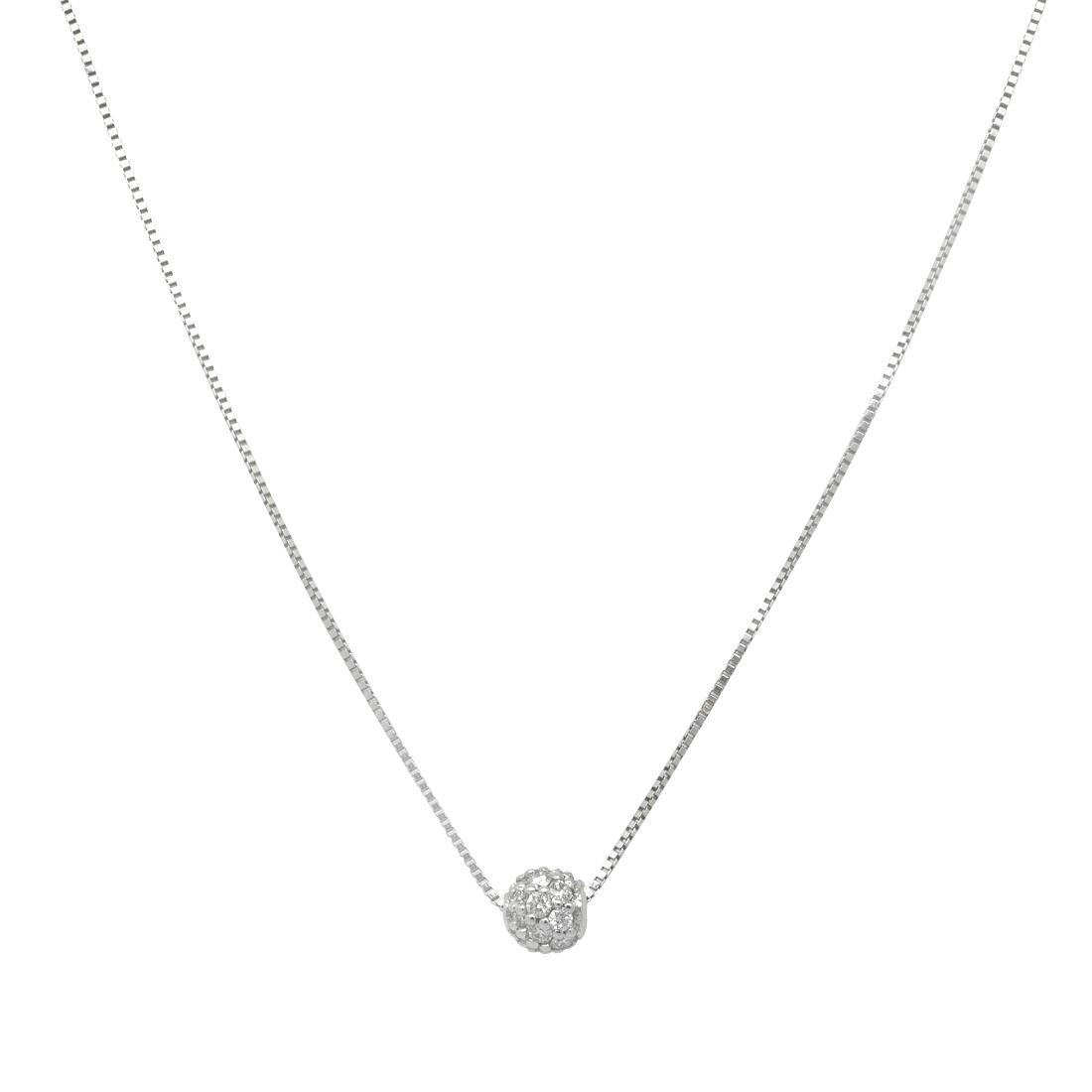 Collana in oro bianco con diamanti - ROBERTO DEMEGLIO