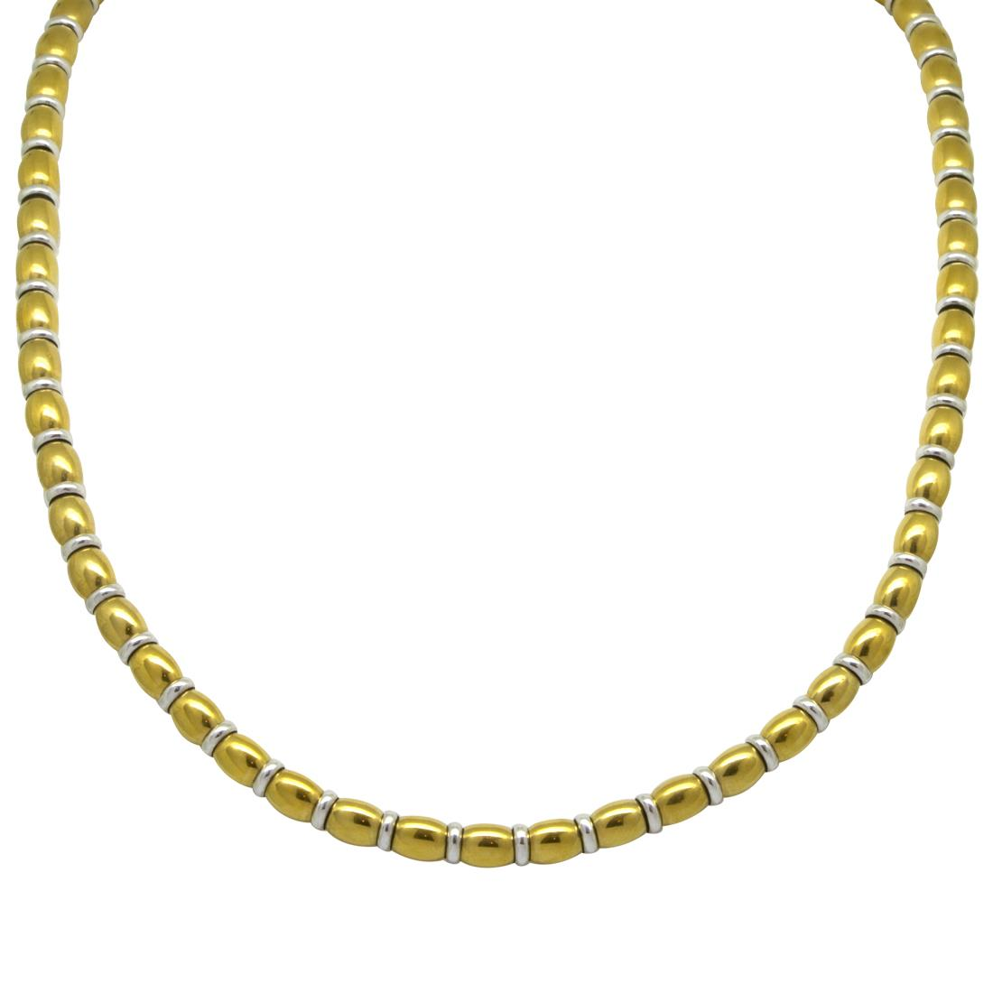 Collana in acciaio e oro bianco - ROBERTO DEMEGLIO