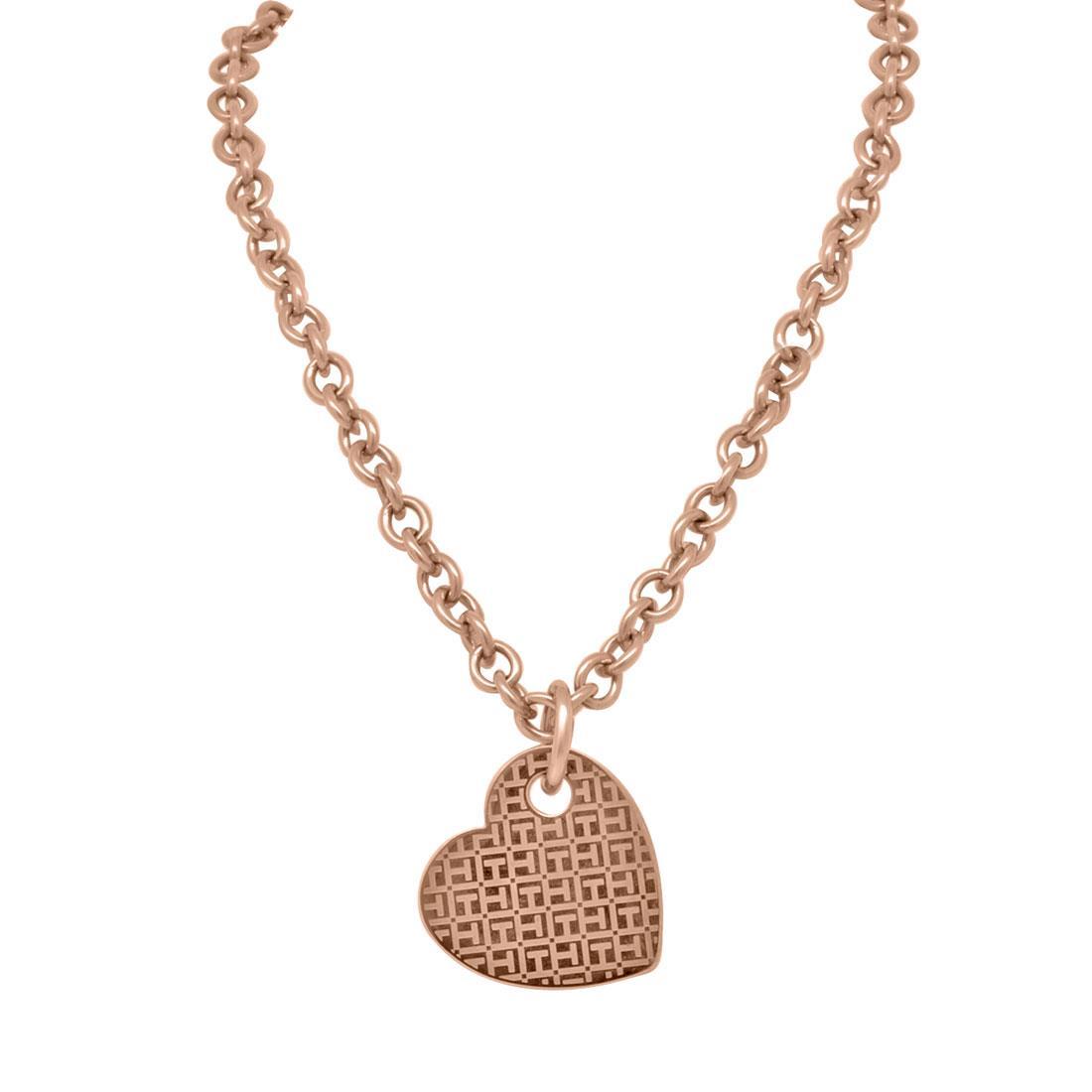 Collana in acciaio oro rosa - TOMMY HILFIGER