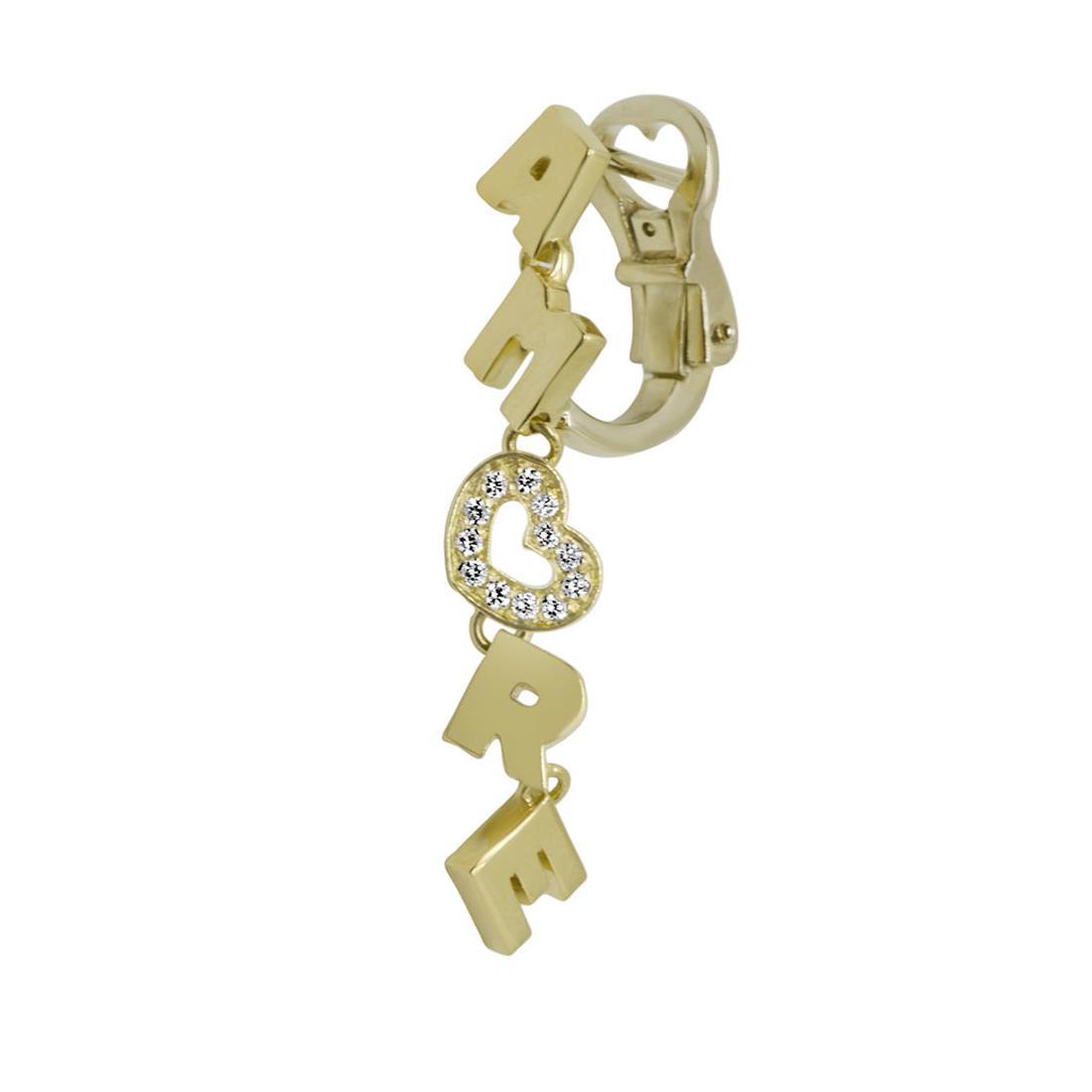 Mono orecchino in oro giallo con diamanti  - PASQUALE BRUNI