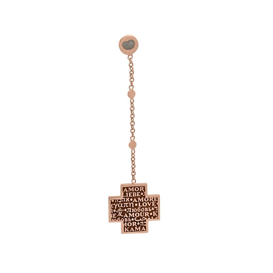 Monoorecchio in oro rosa - PASQUALE BRUNI