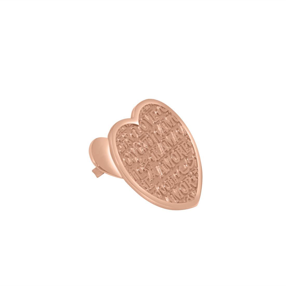 Monoorecchino in oro rosa - PASQUALE BRUNI