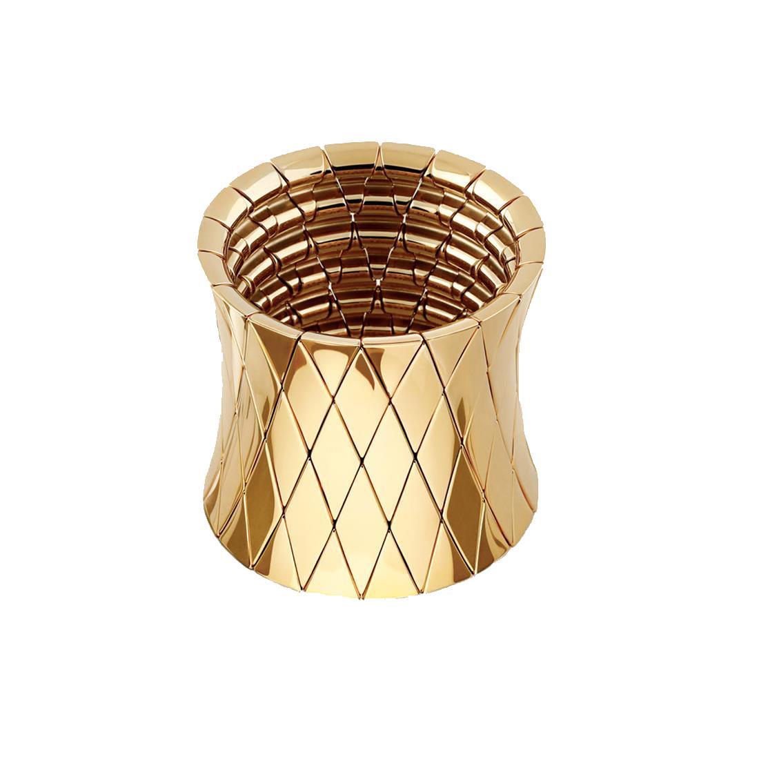 Bracciale elastico in ceramica dorata - ROBERTO DEMEGLIO