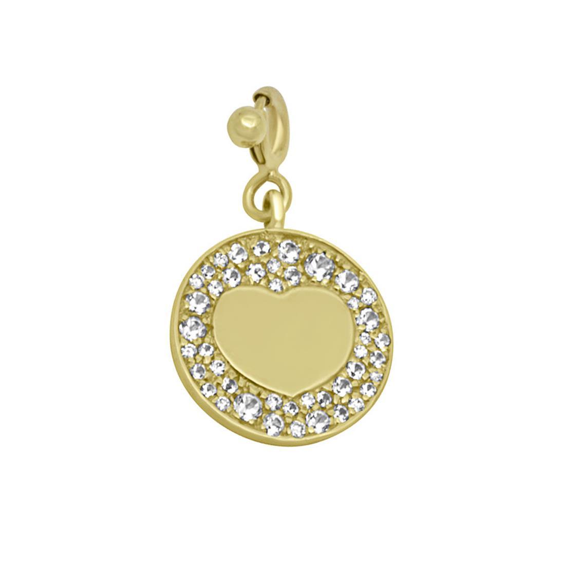 Ciondolo in oro giallo con diamanti - PASQUALE BRUNI