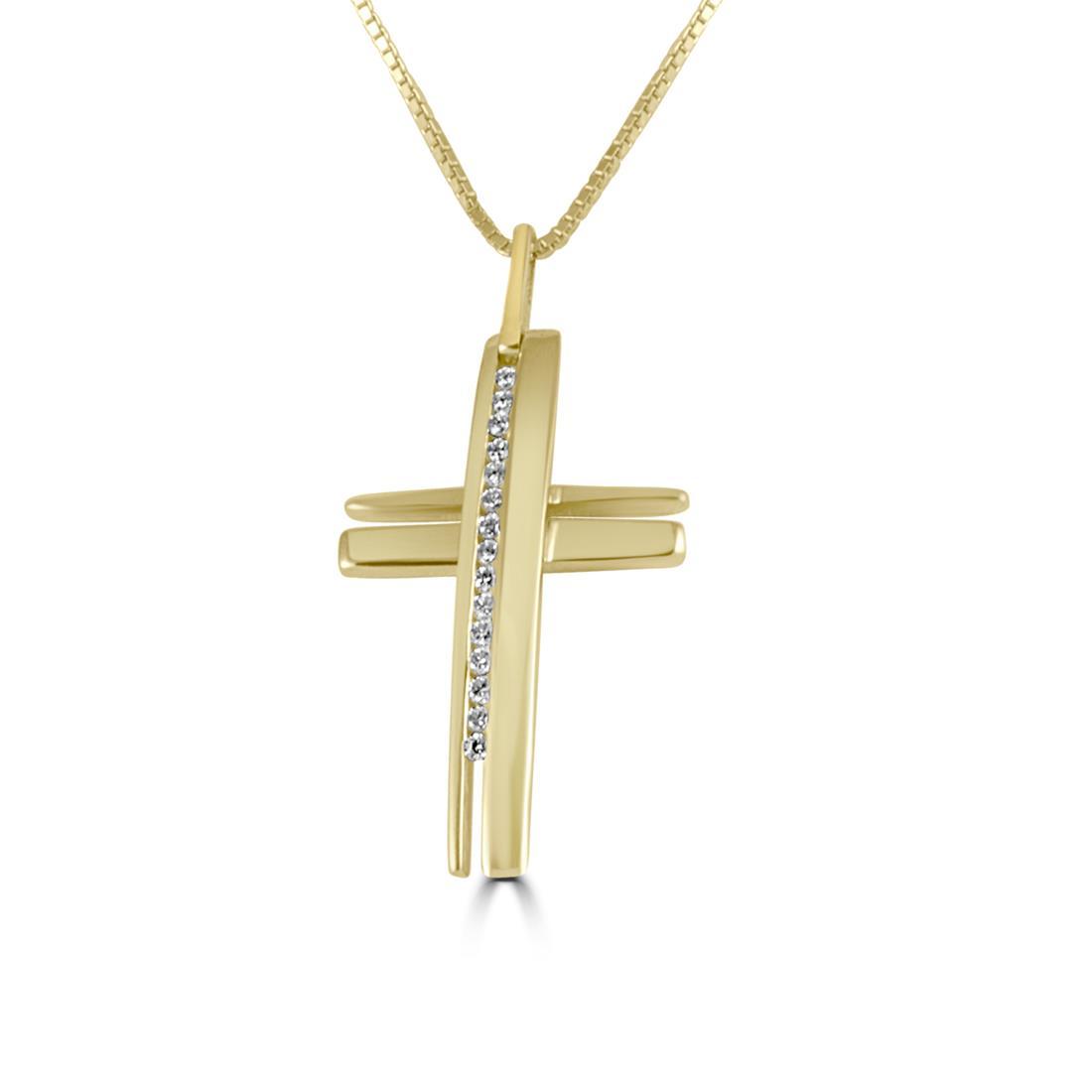 Collier Alfieri & St John in oro giallo con diamanti ct 0,14 colore H - ALFIERI ST JOHN