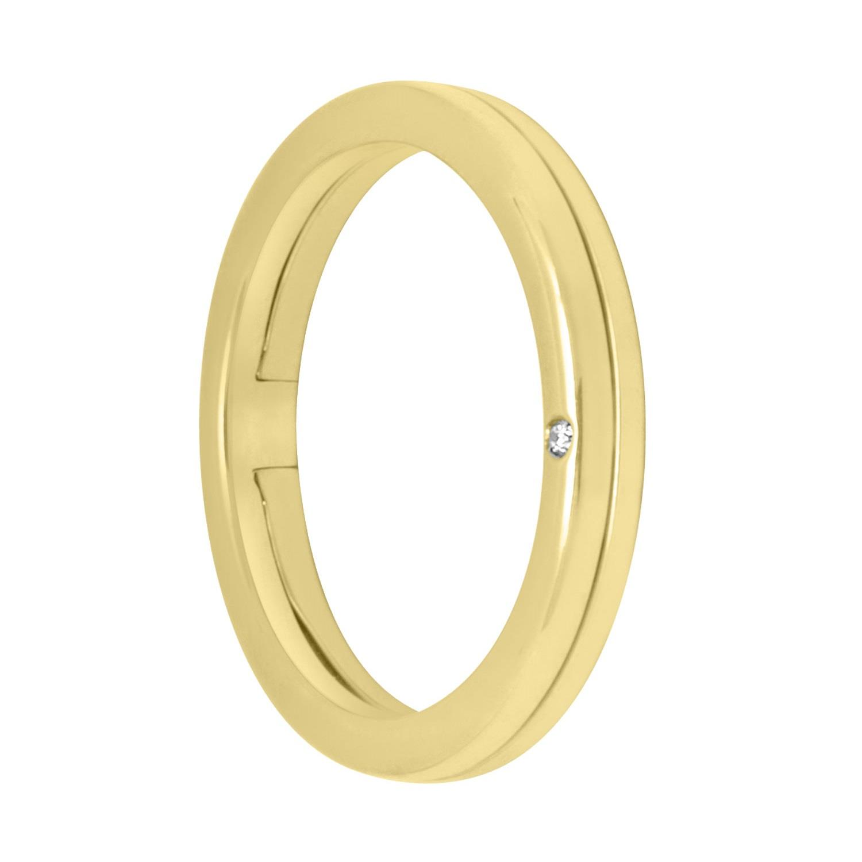 Anello in oro giallo con diamante, misura 22 - ALFIERI & ST. JOHN