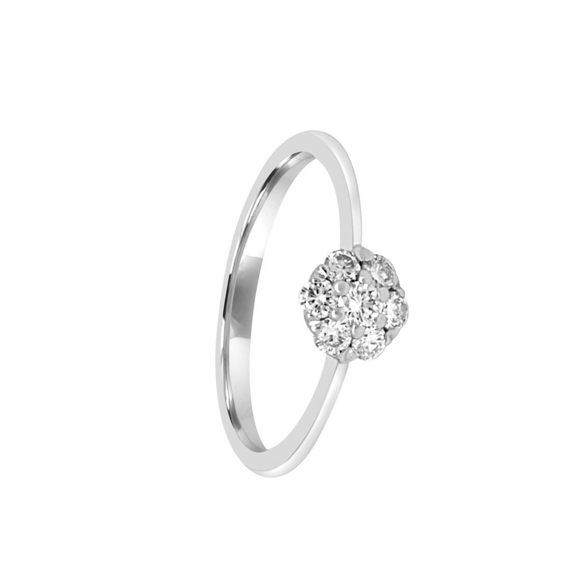 Anello in oro bianco con diamanti, misura 15 - ALFIERI & ST.JOHN