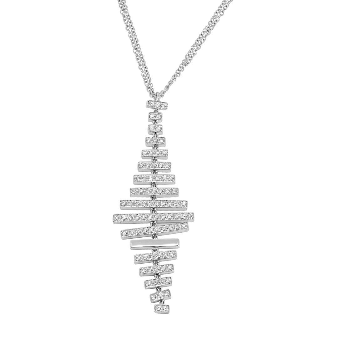 Collana in oro bianco con diamanti - ALFIERI ST JOHN