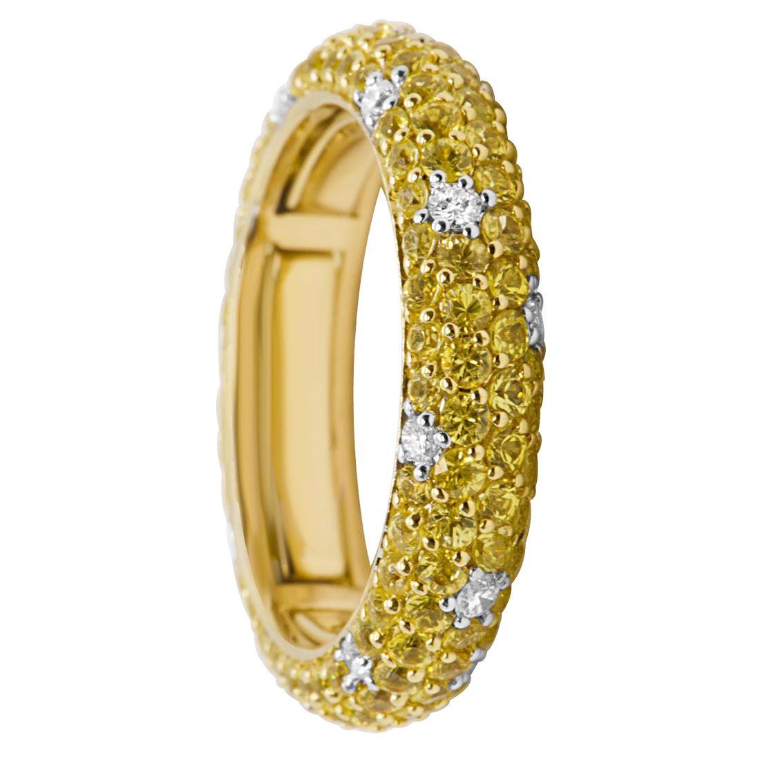 Anello eternity in oro giallo, mis 16 - ALFIERI & ST. JOHN