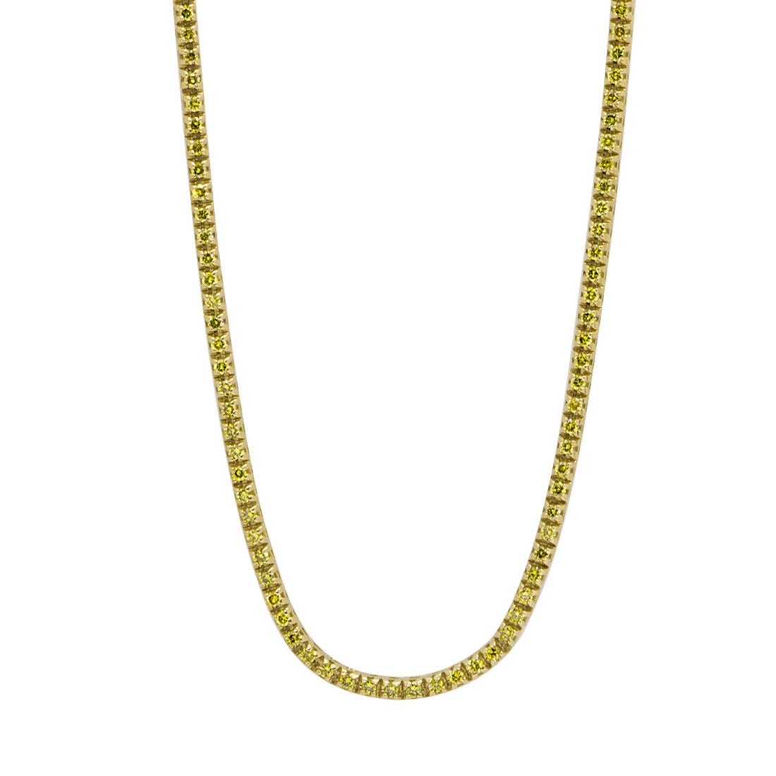 Collana tennis in oro giallo con diamanti 1,00 ct  - ORO&CO