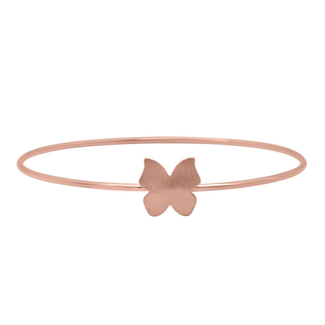 Bracciale Oro & Co in argento rosato con farfalla - ORO&CO