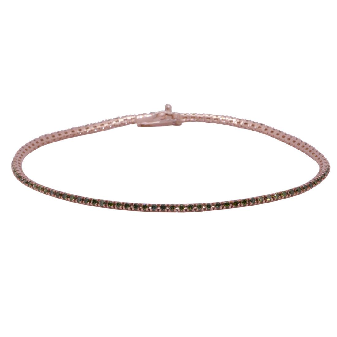 Bracciale tennis in oro rosa con diamanti 0.85 ct - ORO&CO