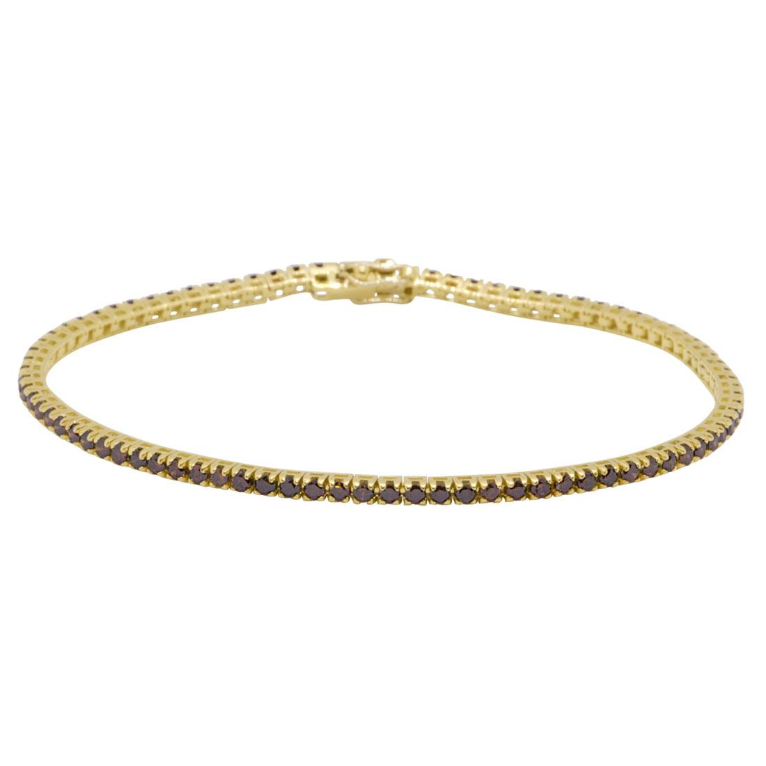 Bracciale tennis in oro giallo con diamanti 2,35 ct - ORO&CO