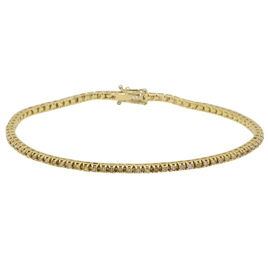 Bracciale tennis in oro giallo con diamanti - ORO&CO