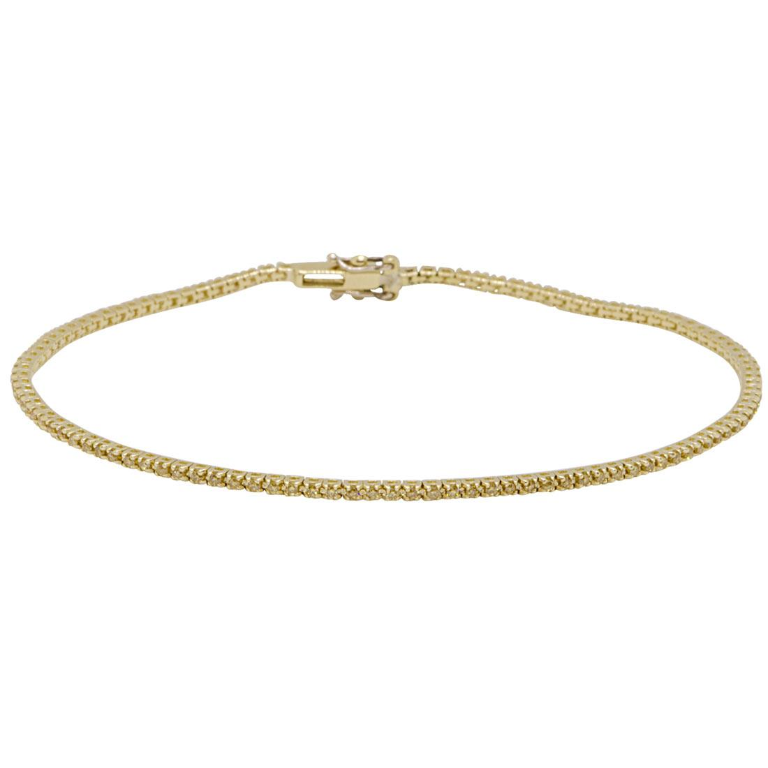 Bracciale tennis in oro giallo con diamanti 0,60 ct - ORO&CO