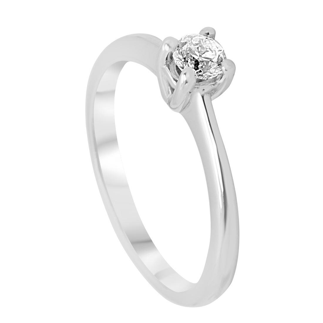 0f73c255fb83 Anillo solitario en oro blanco con diamante 0.25 ct med 13 - ORO CO ...