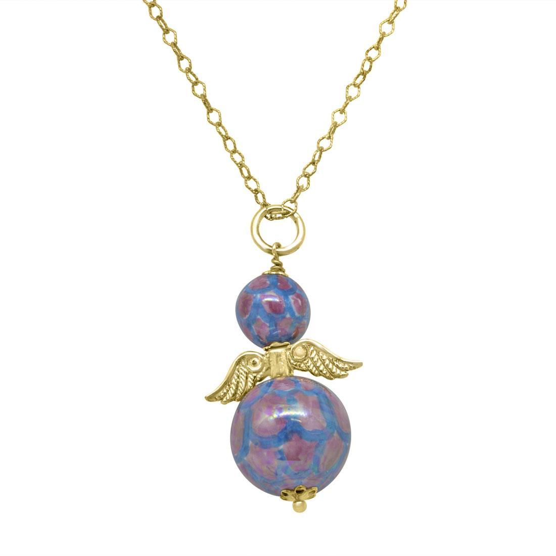 Collana in argento con angioletto - LE PERLE DI CALTAGIRONE