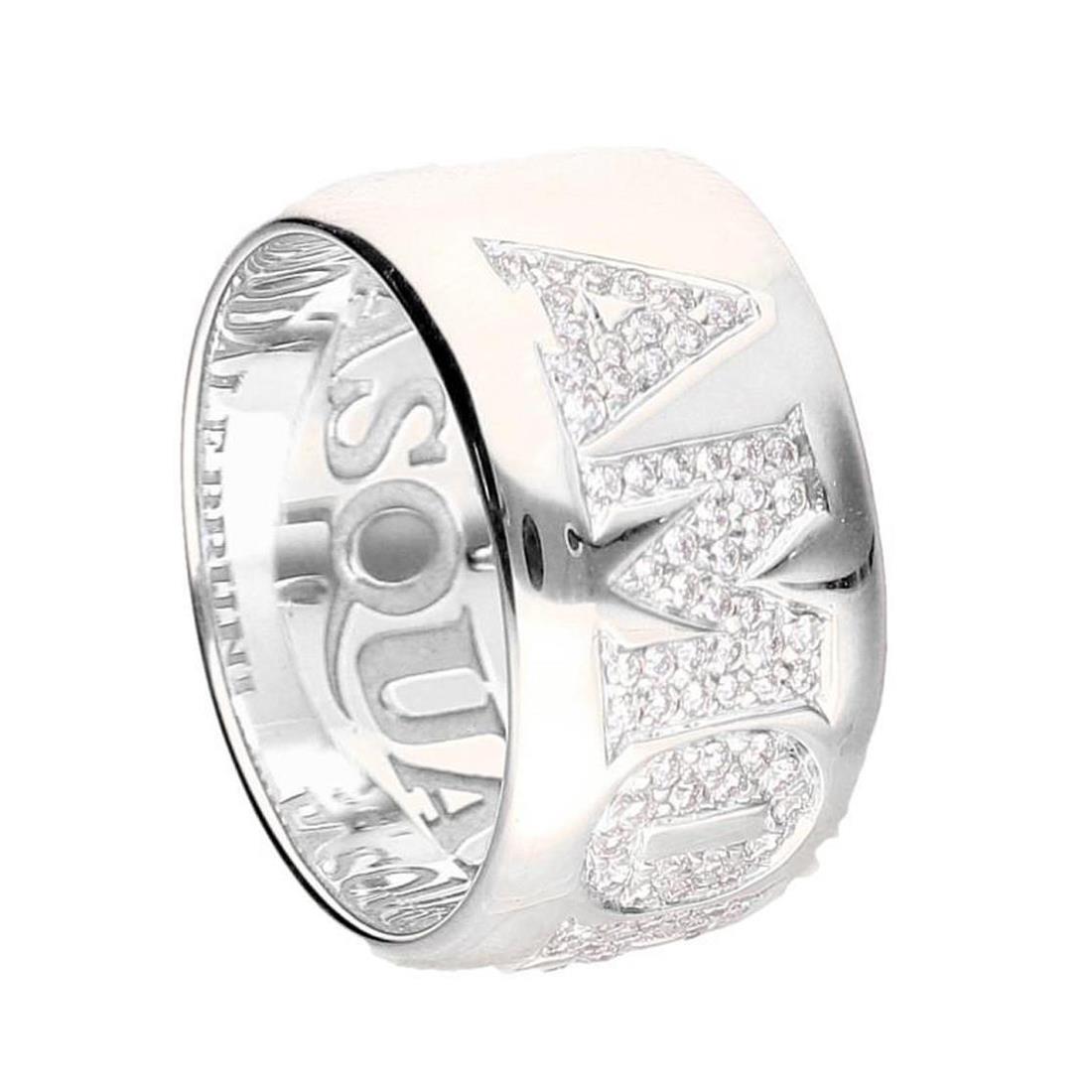 Anello fascia con diamanti - PASQUALE BRUNI