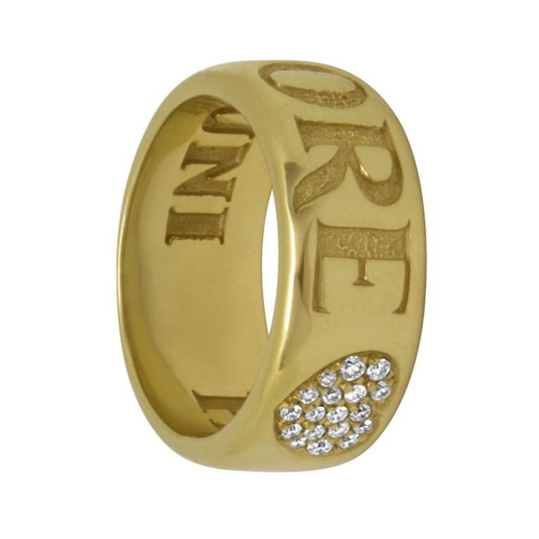 Anello in oro giallo con diamanti ct 0.14, misura 9 - PASQUALE BRUNI
