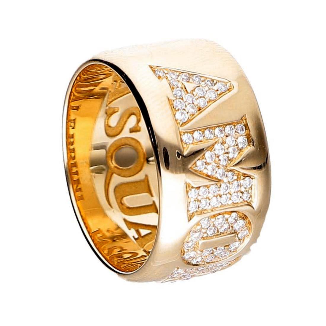 Anello a fascia con diamanti - PASQUALE BRUNI