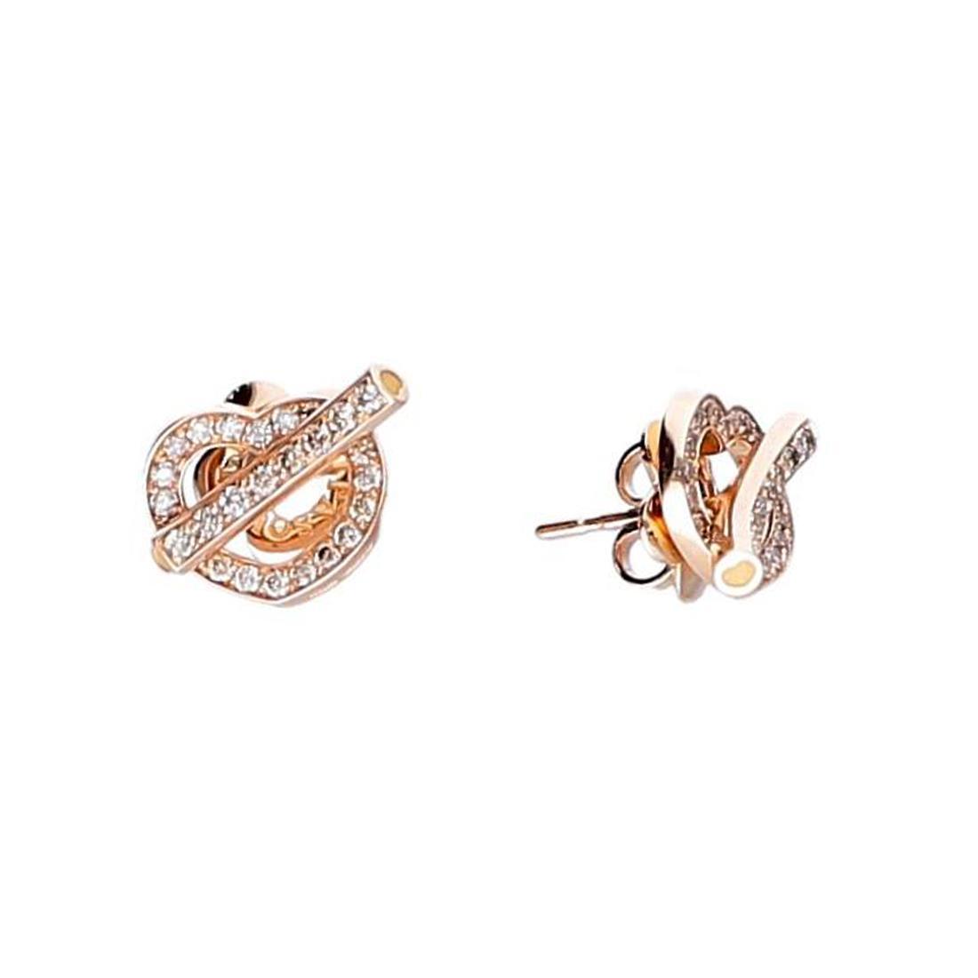 Orecchini Pasquale Bruni in oro rosso Cuore Make Love con diamanti cts 0,65 - PASQUALE BRUNI