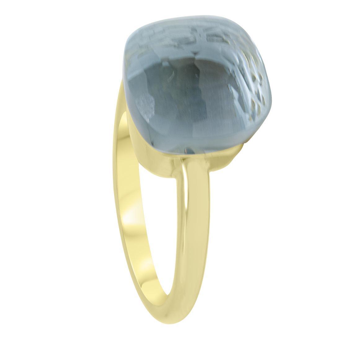 Anello in oro giallo con pietra blu misura 14 - ORO&CO