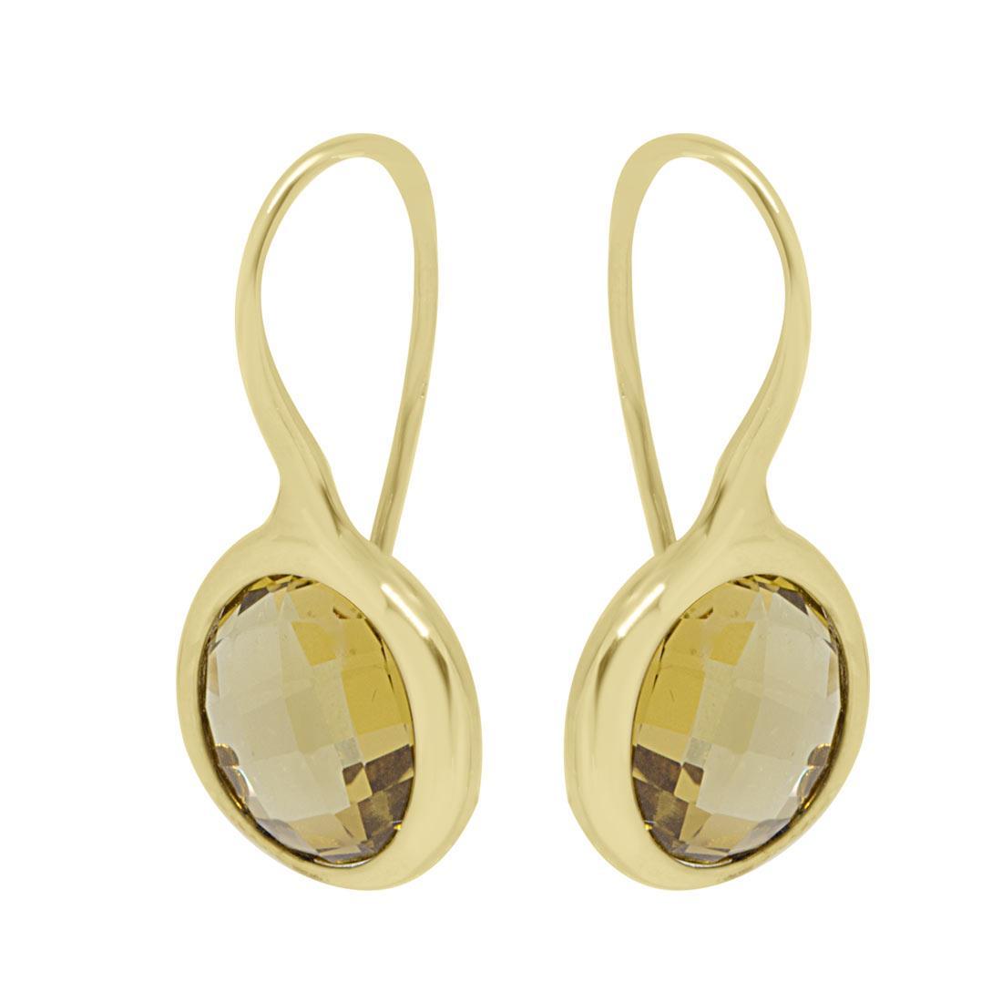 Orecchini in oro giallo con pietra - ORO&CO
