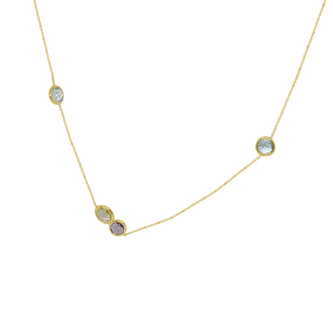 Collana Oro & Co in oro giallo con pietre semi-preziose - ORO&CO