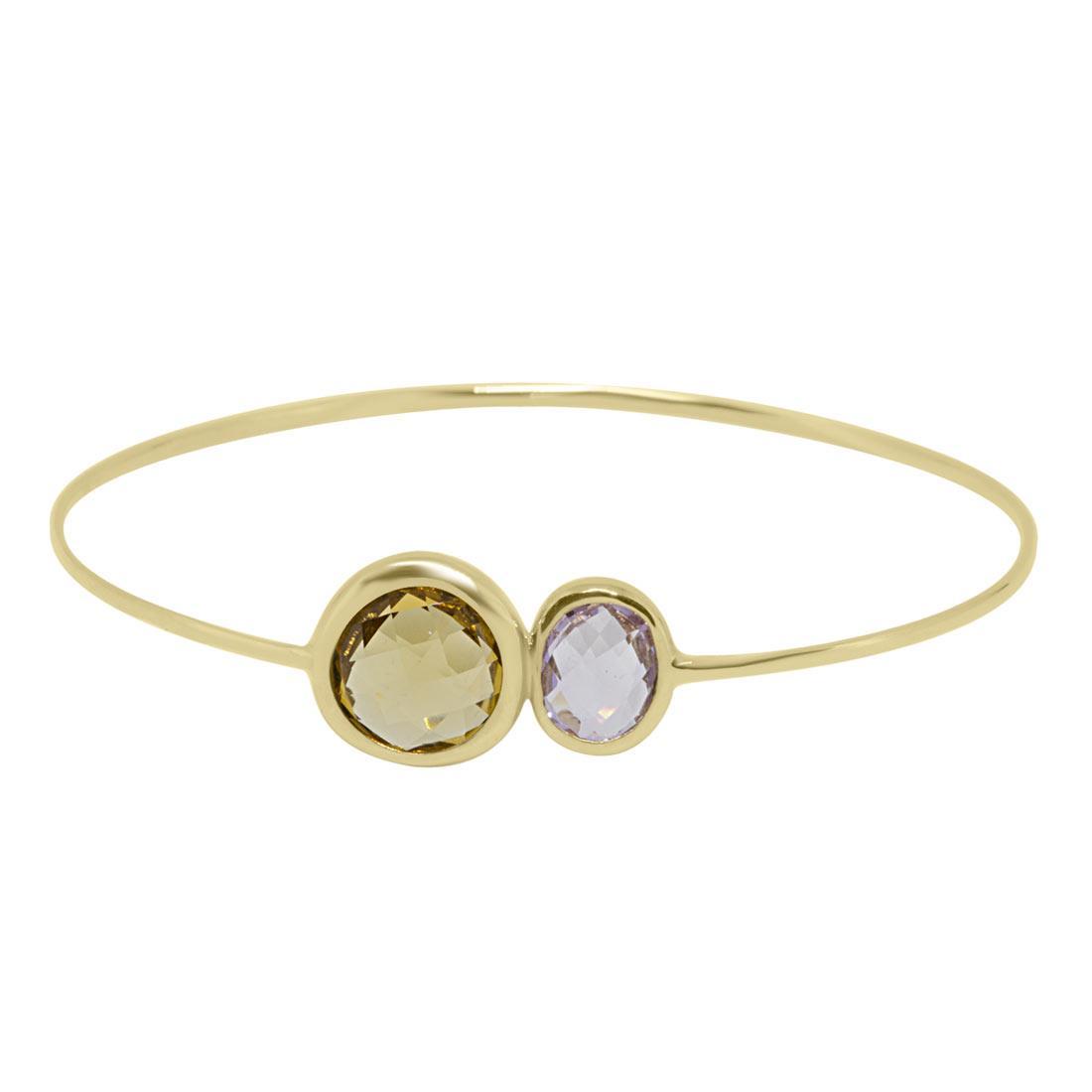 Bracciale Oro & Co in oro giallo con pitre semi-preziose  - ORO&CO