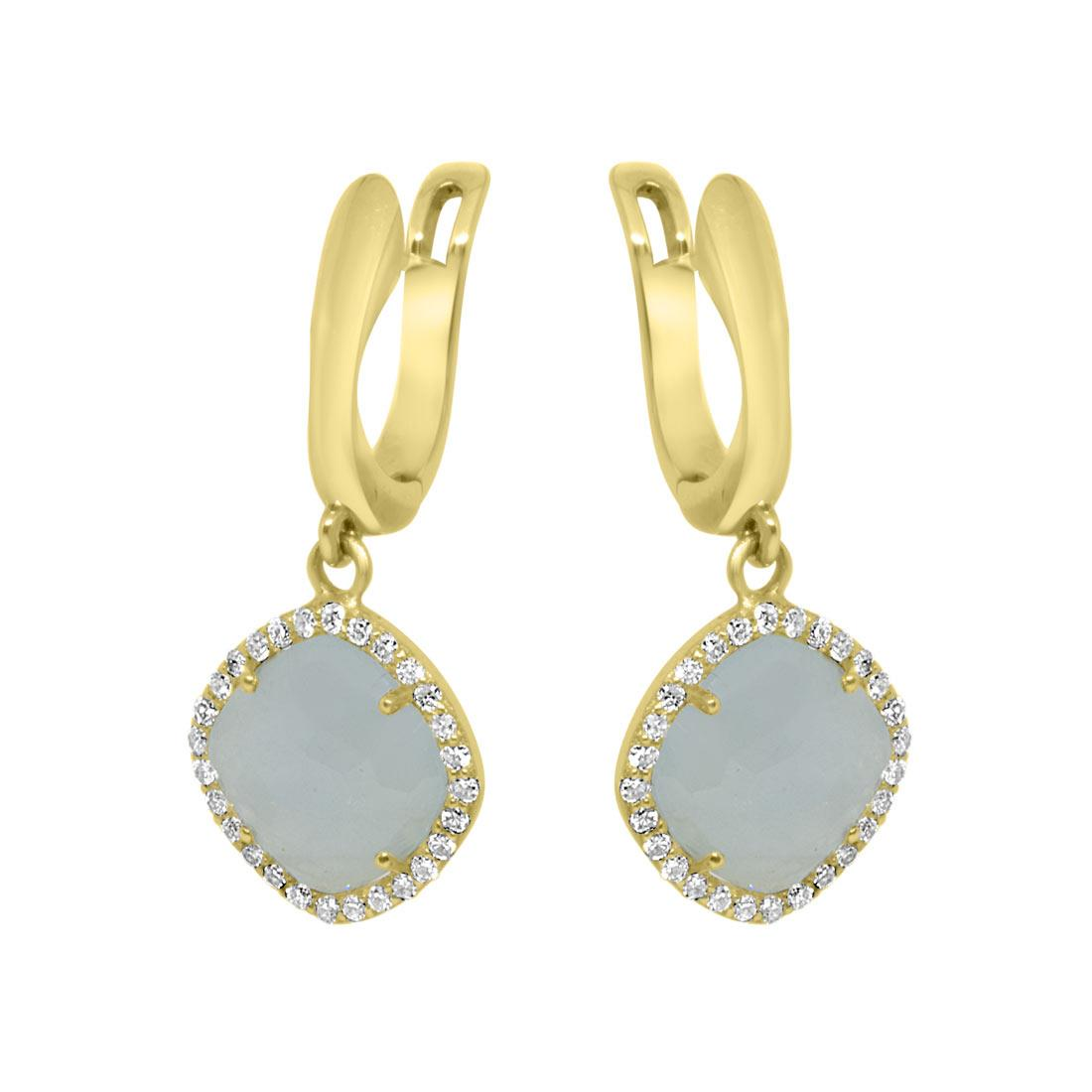 Orecchini in oro giallo e diamanti 0.28 ct - ORO&CO