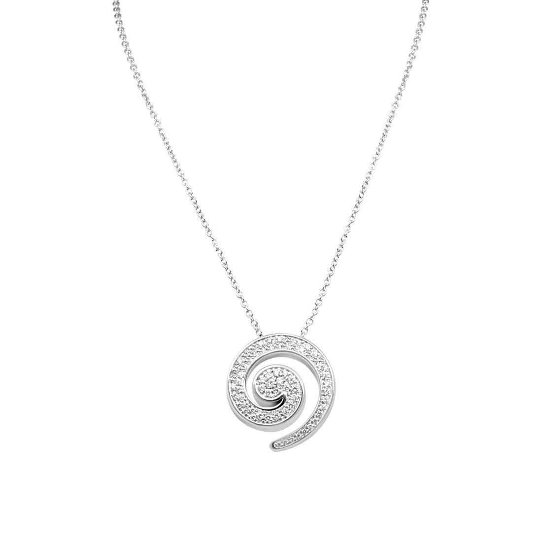 Collana in oro bianco, pendente con diamanti - SALVINI