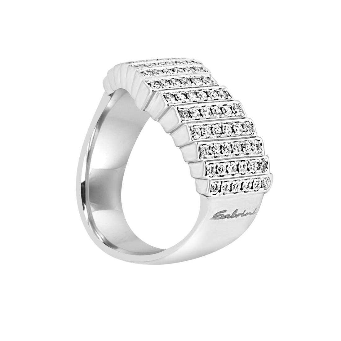 Anello in oro bianco con diamanti mis 14 - SALVINI