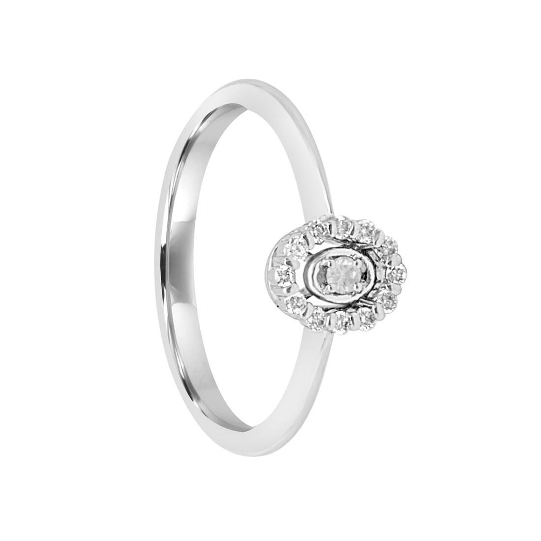 Anello in oro bianco con diamanti ct 0.10 misura 13 - SALVINI