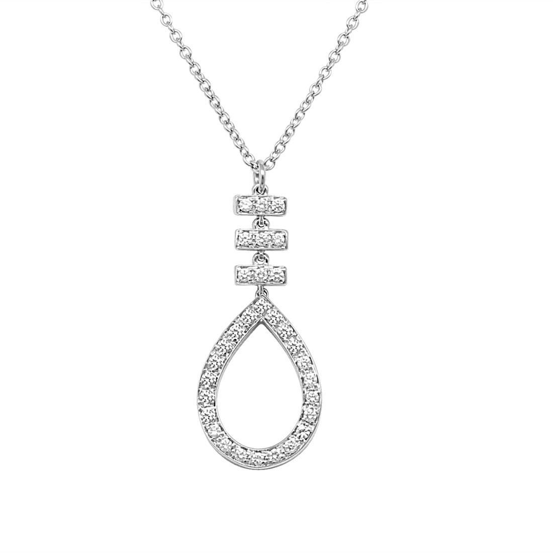 Collana in oro bianco con diamanti ct 0.26 - SALVINI